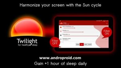 تحميل تطبيق Twilight لإراحة العين للاندرويد