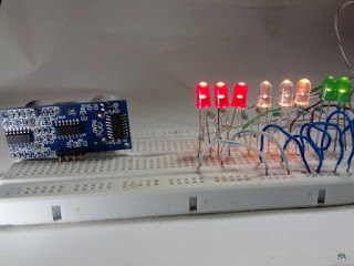 Distance Measuring LED's Bar Graph For Parking Sensor