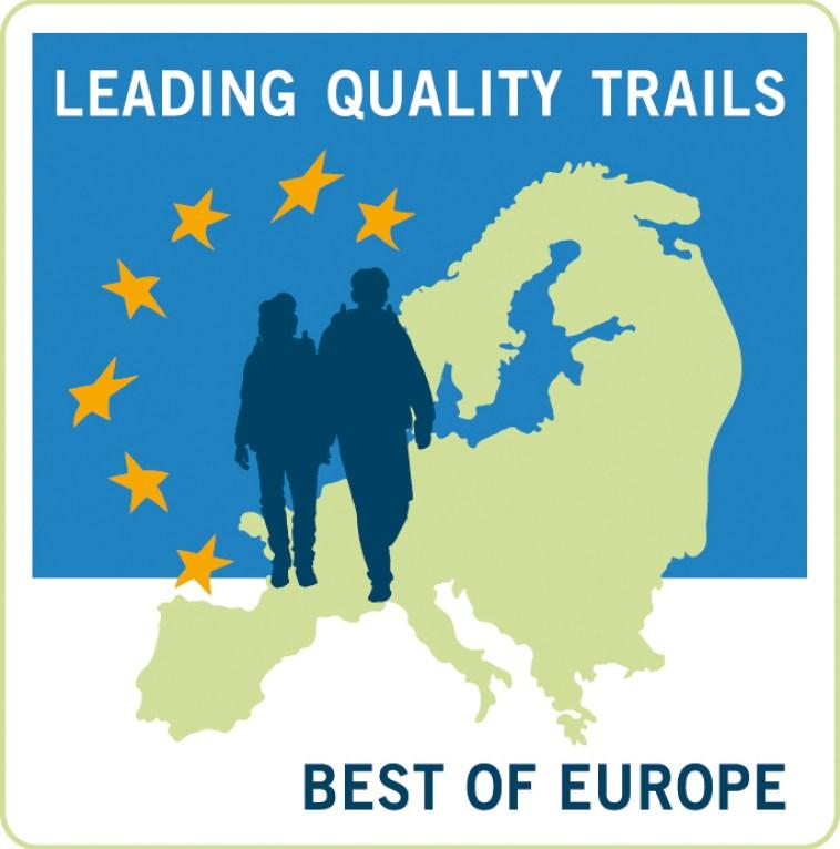 logo leading quality trail
