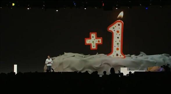 Google + cumple 1 año