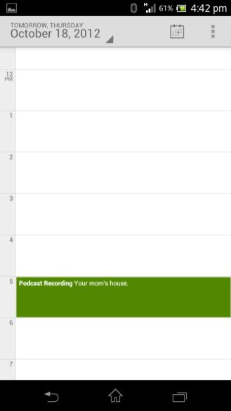 Google Calendar Dia