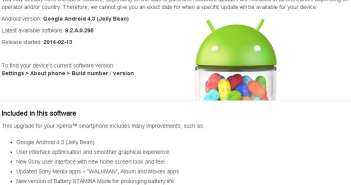 Android 4.3 Xperia T
