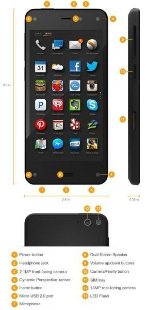 Amazon Fire Phone Spec