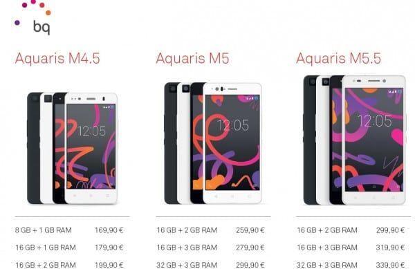 precios bq aquaris m