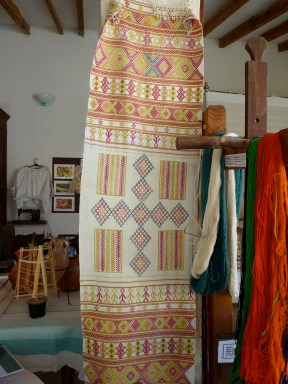 Old piece of Fythkiotika from Mrs Mavrelis at the Weaving & Folk art Museum in Fyti