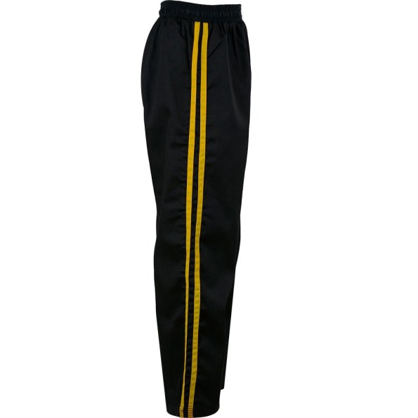 KM001-kids-classic-polycotton-full-contact-trousers-Black-Yellow-side.jpg