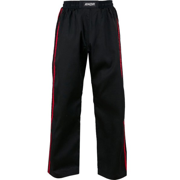 KM003-kids-classic-polycotton-full-contact-trousers-Black-Red.jpg