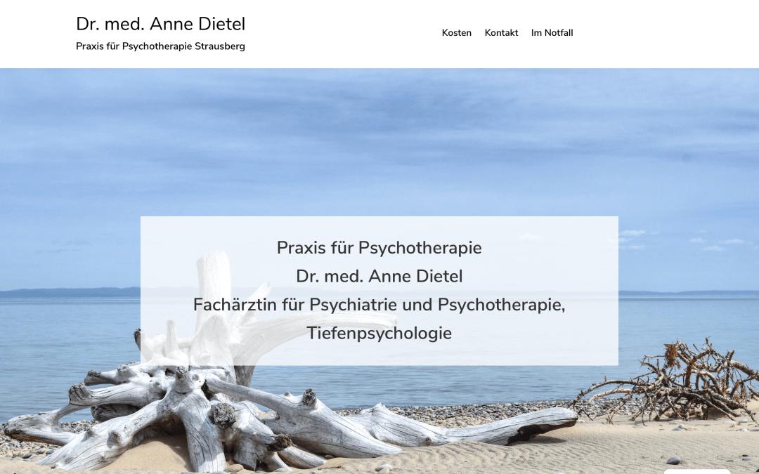 Webdesign Psychotherapie Praxis Strausberg