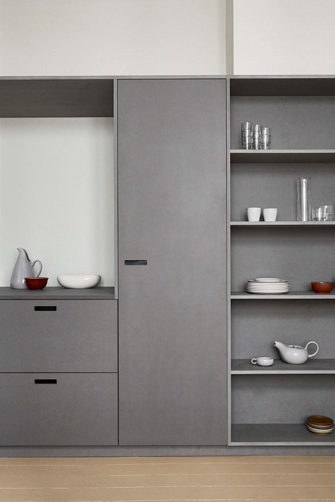 køkken-fronter-ikea-&SHUFL-grå-køkkenlåger-lysegrå-låger-custom-reol