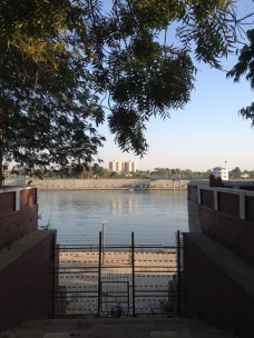 Walking down to the Sabarmati