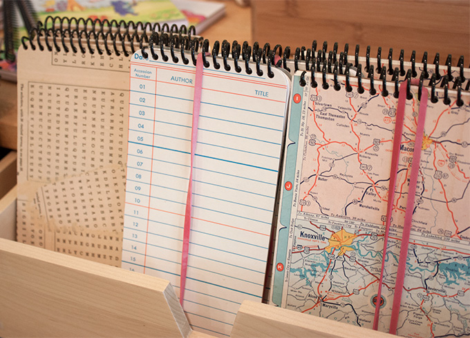 When the vintage maps are gone, so are the notebooks.