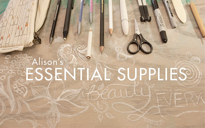 TOOLBOX: Alison's Essential Supplies #drawing #tools