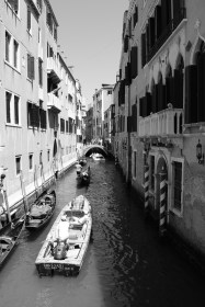 The canals in Venice, Italy