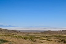 Salt lakes in the distance