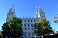 The main Mormon church in Salt Lake City, Utah