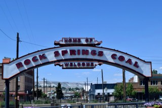 Stopped for lunch at Rock Springs, Wyoming.