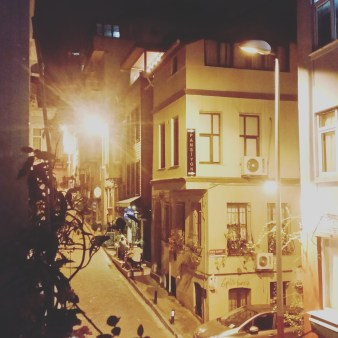 Streets at night in Istanbul