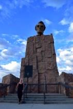 Triin at he Lincoln Memorial in Wyoming