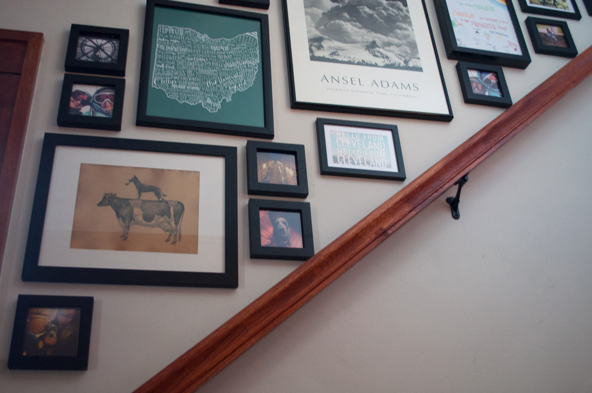 Creating An Easy Stairway Gallery Wall With Amazon Frames