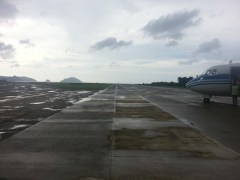 The runway in El Nido