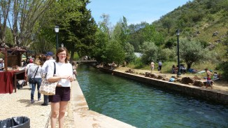 me at the Fonte Grande (big fountain), which fills up and acts as a swimming pool in the summer