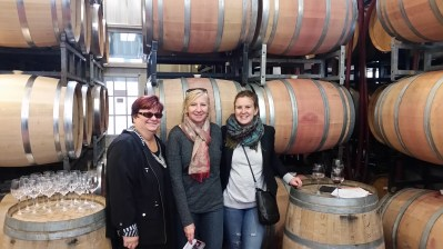 My mom, Kim, and me at Tawse Winery