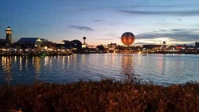 The view while walking to Disney Springs from our hotel