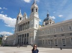 Close up at the Royal Palace of Madrid