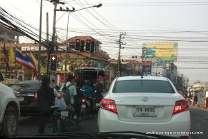 Hua Hin traffic as seen from the drivers seat.