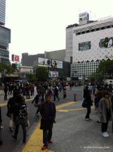 A daytime photo of the Shibuya Crossing. It doesn't look that impressive during the day. I wasn't able to get a nighttime photo of it. Apparently that is the time to go... oops.