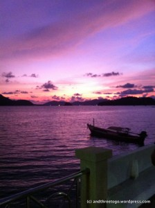 Sunset at Cape Panwa on the southern tip of Phuket
