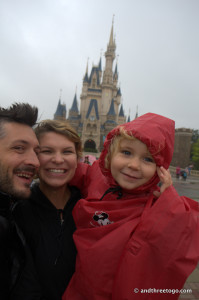 All three of us at And Three To Go in front of Cinderella's Castle.