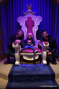 Such a regal (and blurry) photo of Z in the throne room.
