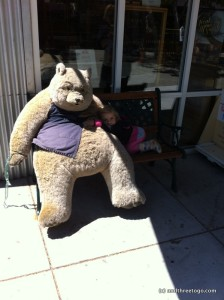 This is the Rocky Mountain Chocolate Factory bear. He sits outside of all their establishments. Z loved him.