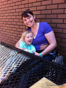 My youngest sister Lisa came to see us! I think Z is a little excited to hang out with her.