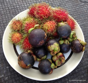Ramubtan and Mangosteen fruit is everywhere in Phuket right now. There is so much that people are pretty much just giving them away. They are so delicious!
