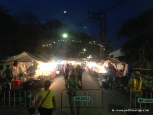 There was a special night market at the temple near our house. It was crazy busy!
