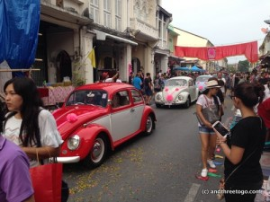 For the finale, three VW bugs that were beautifully restored drove past. VW bugs and vans are really popular here.