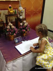 Z signing the guestbook.