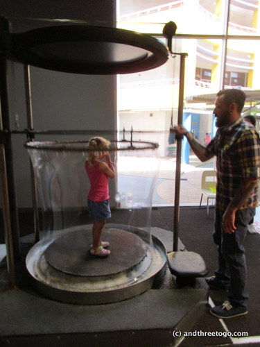 We went to the Childrens Discovery Museum near the Chatachak Weekend Market. Here Z is getting enveloped with a giant bubble made by Chad.
