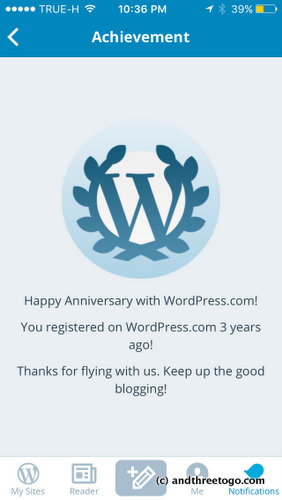 My blog anniversary. 3 years! Thanks everyone for keeping me here and writing and connecting with you.