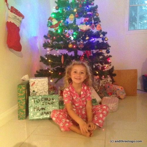 Santa came to Phuket!!!! Z was so excited, but patiently waited for me to take a picture before we opened our gifts!