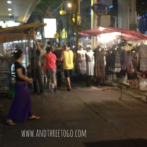 The night market outside the venue.