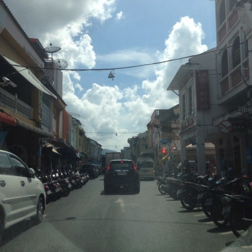 Street View of Thalang Road in Phuket Town