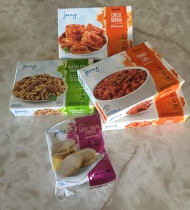A sampling of the meals included in the Jenny Craig Starter Kit.