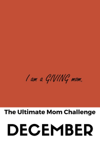 If you're looking to donate to charity, be more giving and teach your kids generosity, check out the goals I set out this month as part of my Ultimate Mom Challenge. Click the article for more.