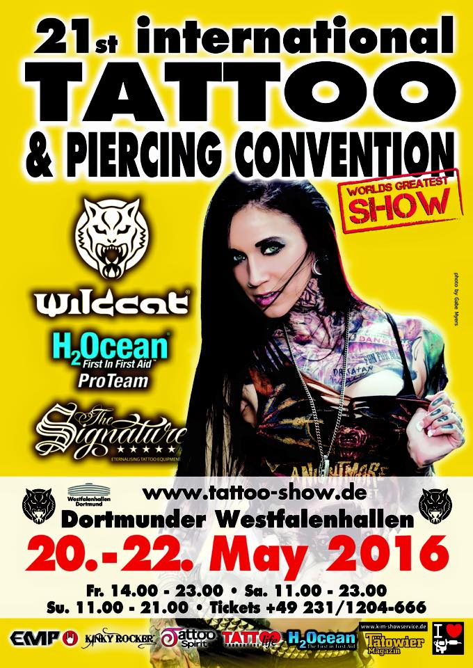 Termine - Dates: 20. - 22.05.2016 Dortmunder Tattoo und Piercing Convention