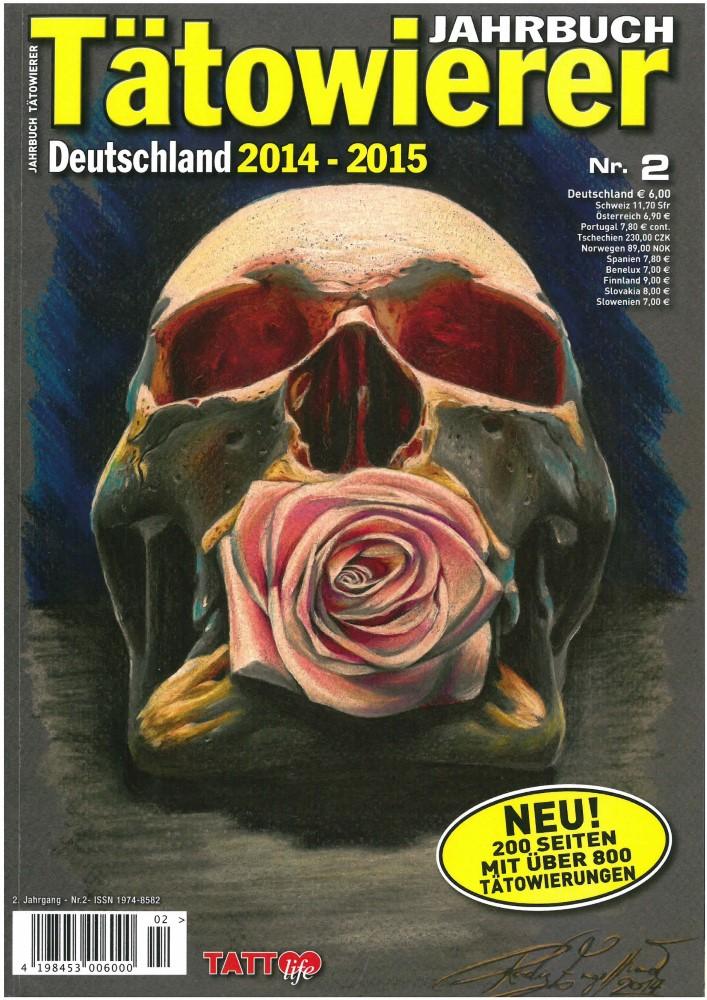 B�cher - Ver�ffentlichungen - TÄTOWIERER JAHRBUCH DEUTSCHLAND 2014-15 - Ausgabe 2