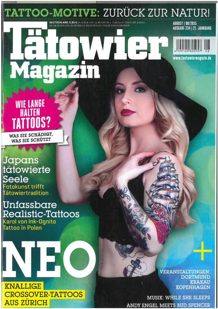 Tätowier Magazin - Ausgabe 234 - August 2015
