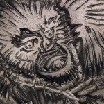 Bas Relief Plate: Monkey